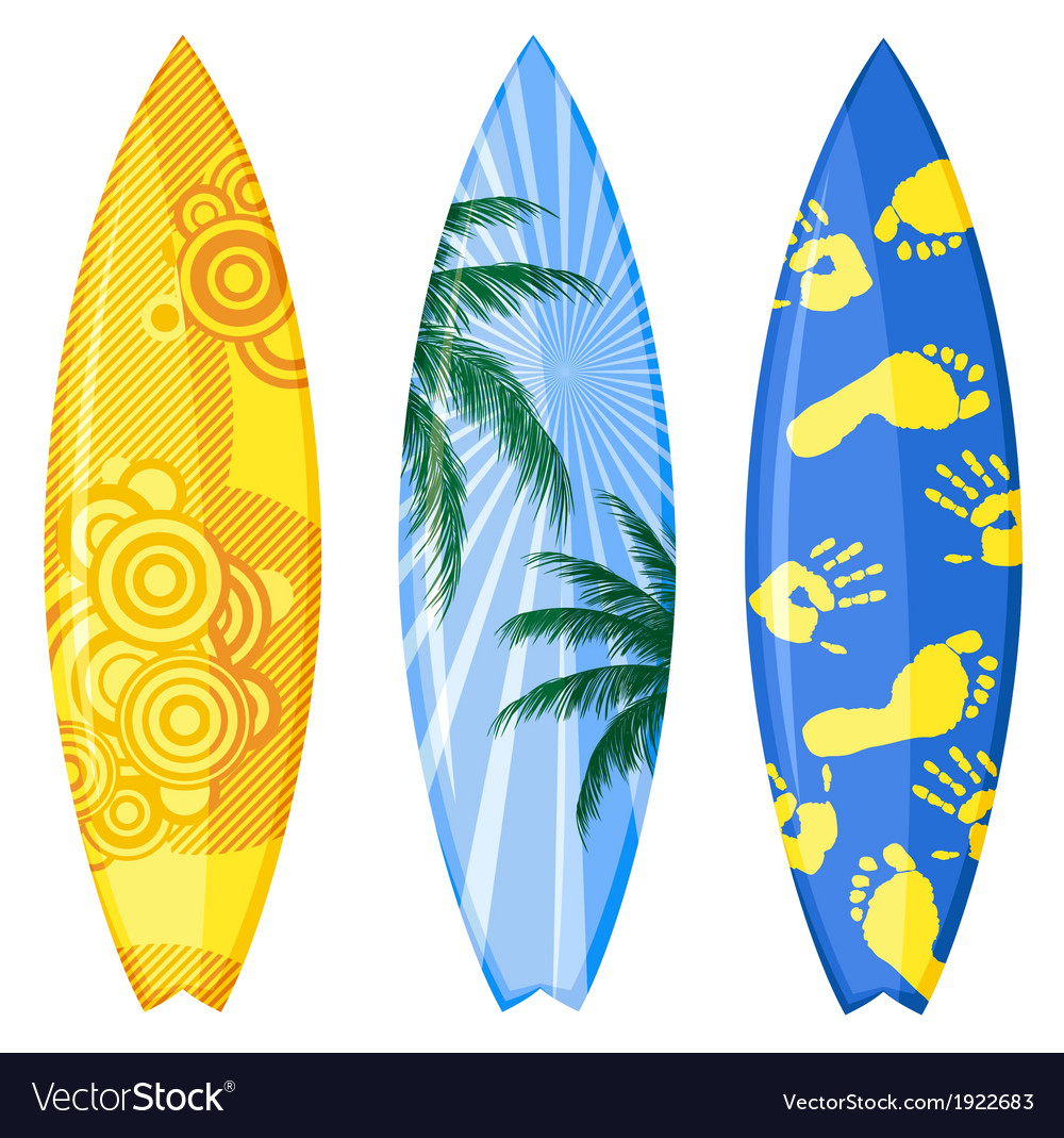 surfboard royalty free vector image vectorstock rh vectorstock com surfboard vector graphic surfboard vector graphic