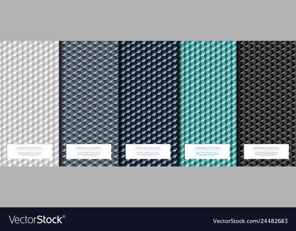 Symmetric collection abstract geometric square