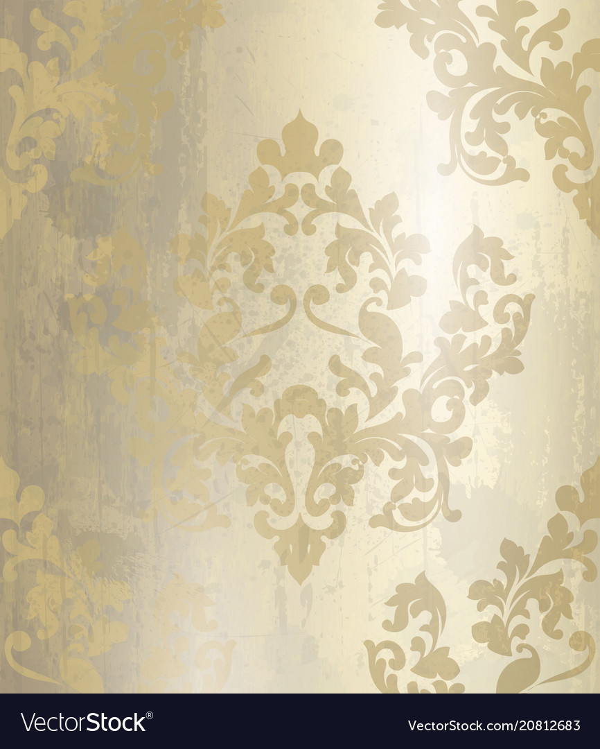 Vintage baroque pattern background