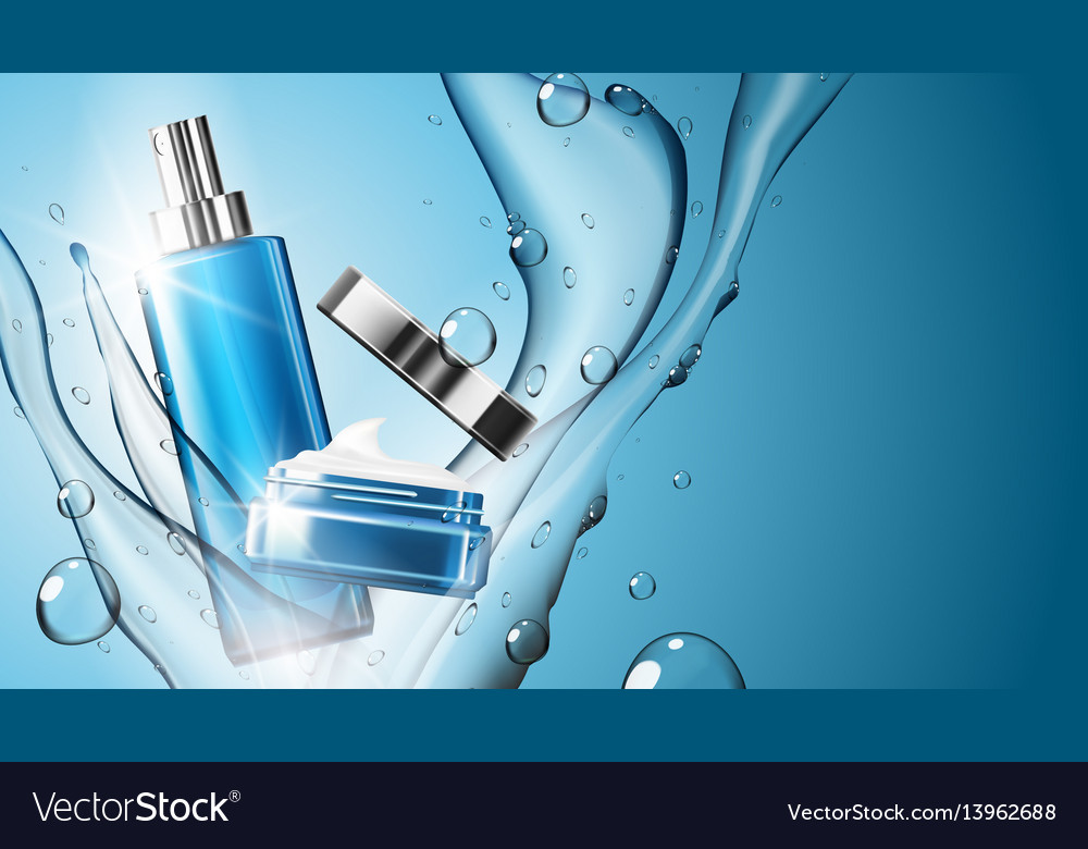 3d realistic cosmetic product spray bottle and