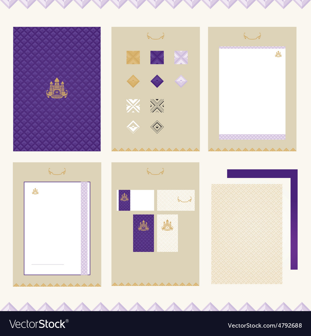 Castle Brand-book Template Royalty Free Vector Image