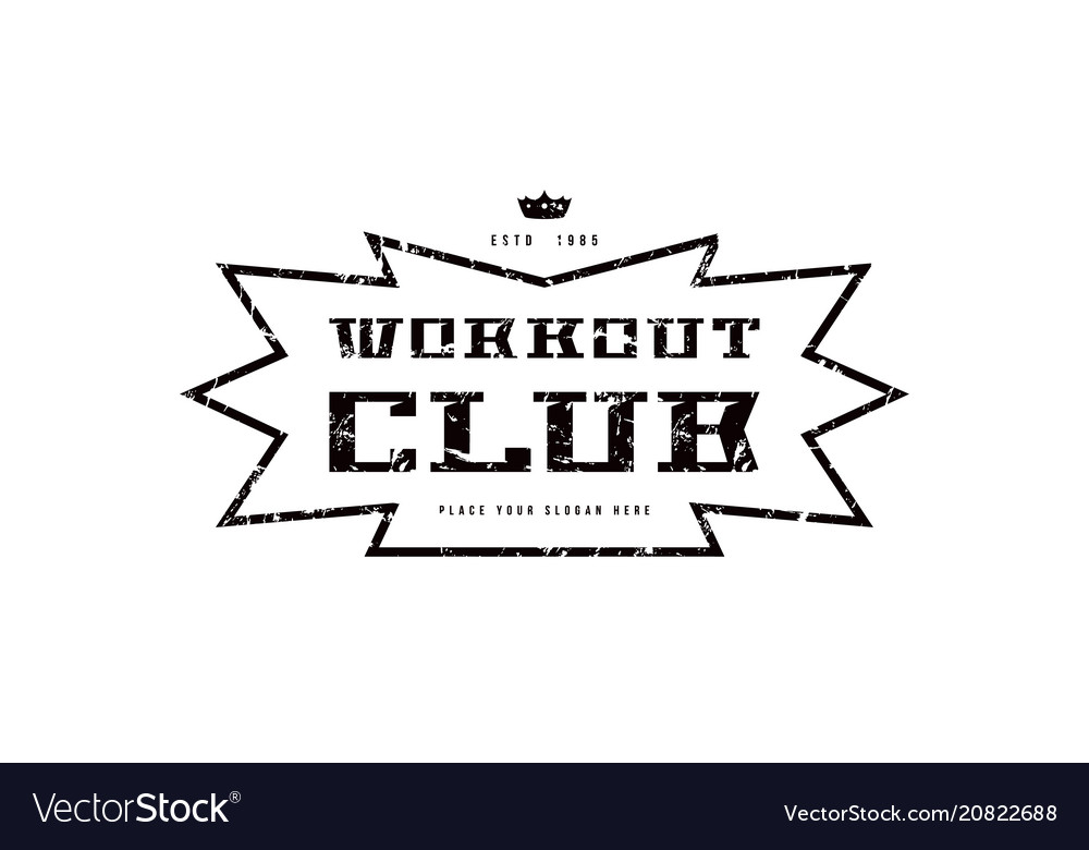 Emblem of workout club