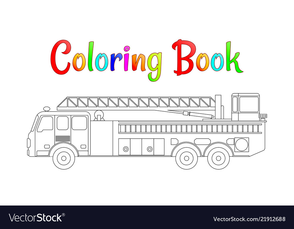 Fire Truck Coloring Page Worksheets | 99Worksheets | 780x1000