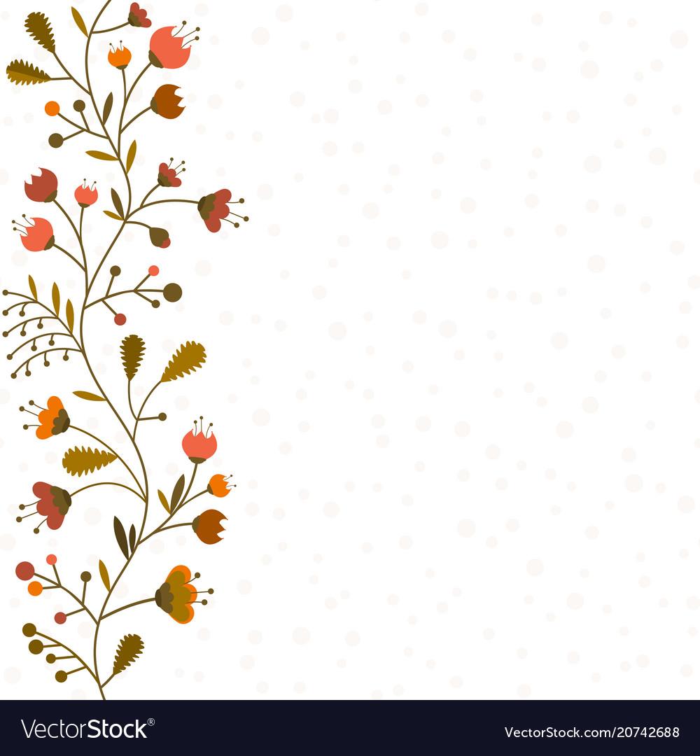 Flowers set isolated on white background