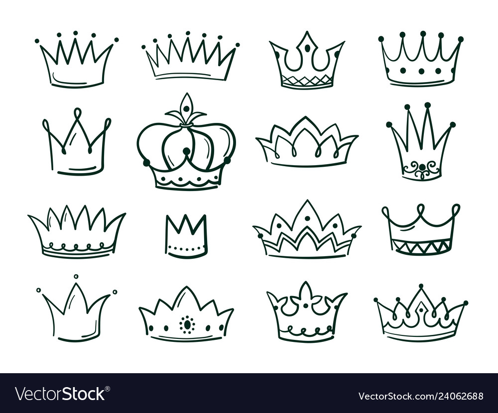 Hand drawn crown sketch crowns queen coronet
