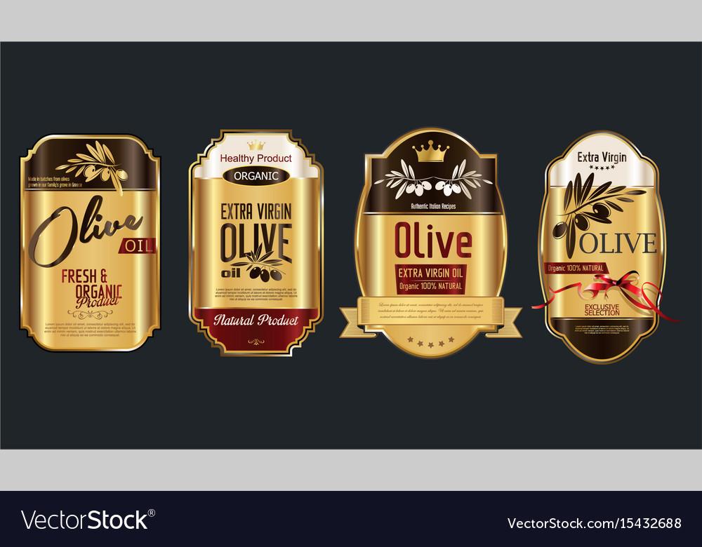 Retro vintage golden olive oil background