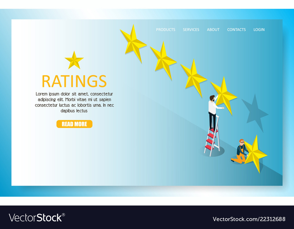 Star rating landing page website template