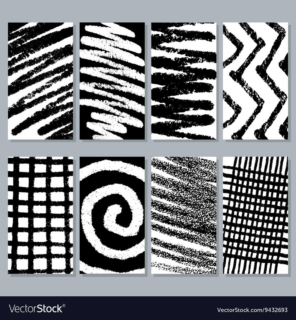 Abstract graffiti grunge textures vector image