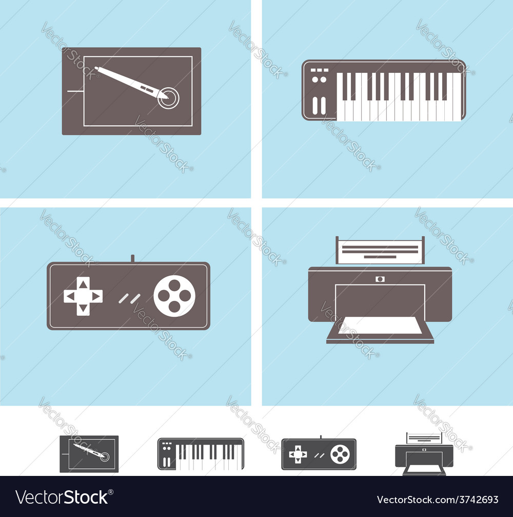 Computer peripheral devices icons
