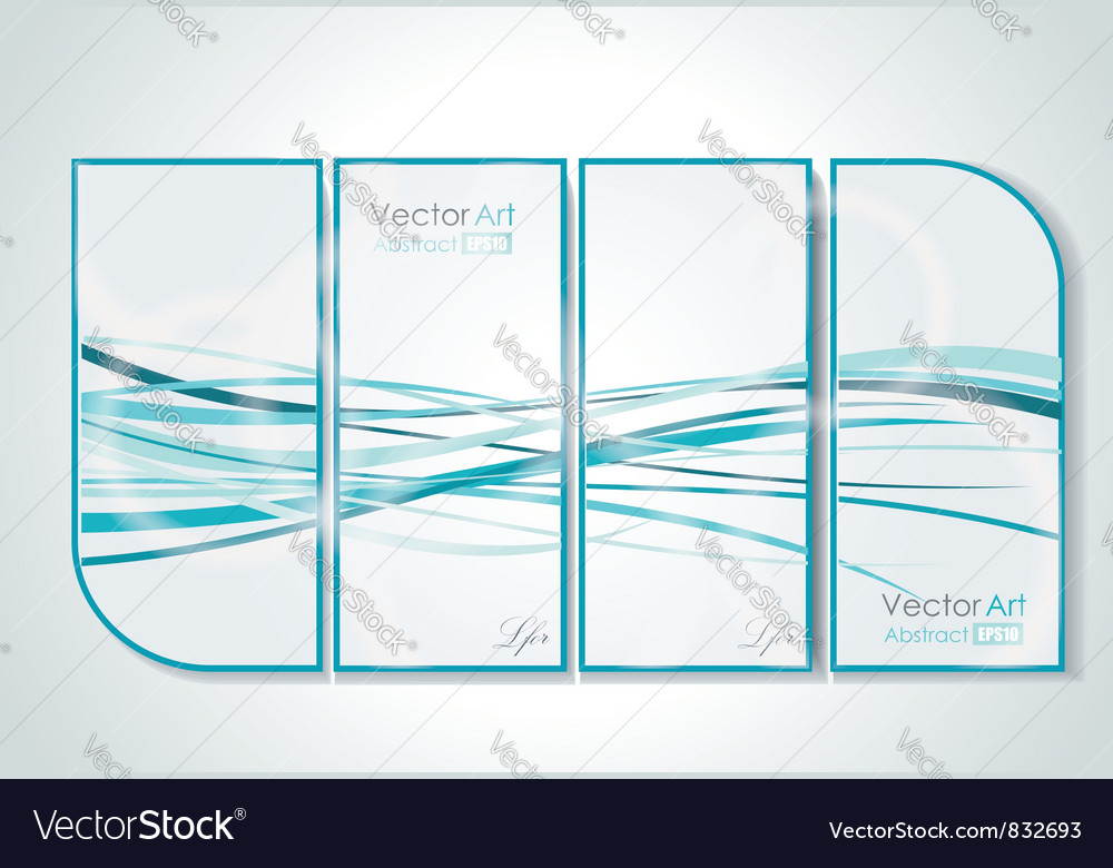 Gallery Interior with abstract pictures vector image