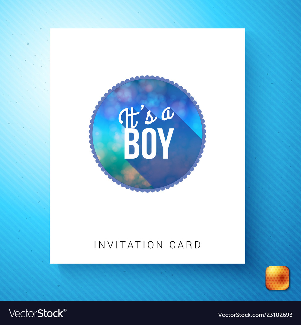 its a boy newborn invitation template royalty free vector