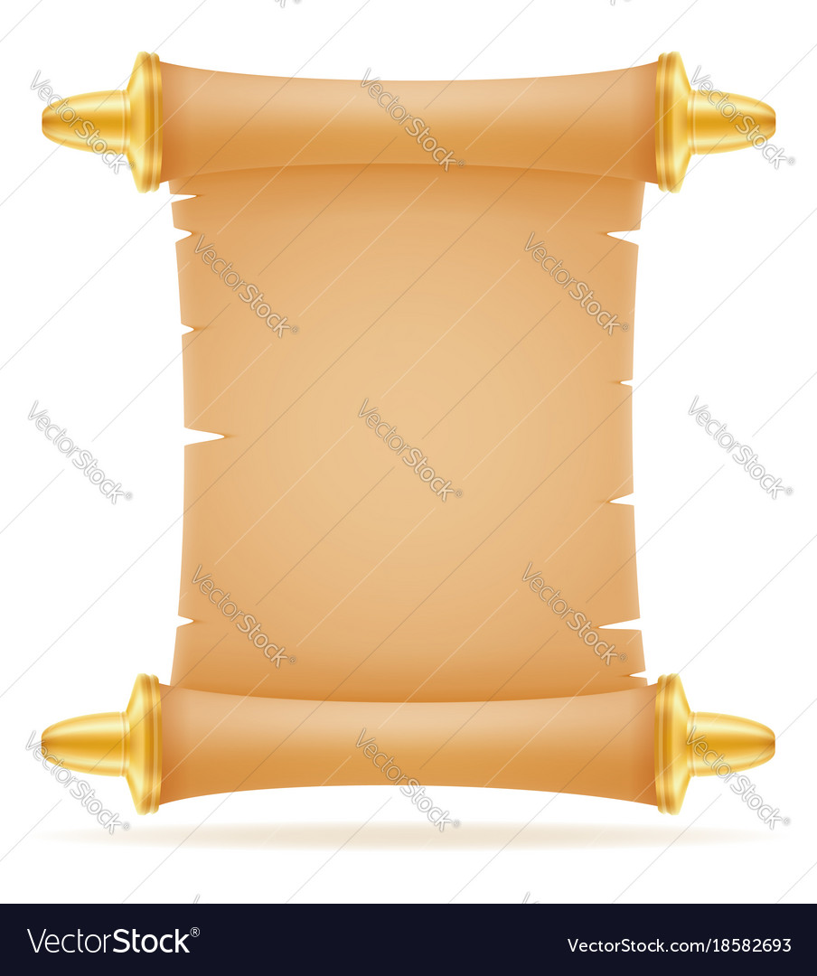 old paper scroll royalty free vector image vectorstock