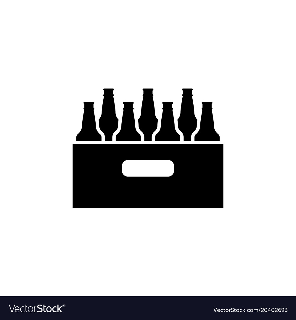 Pack Of Beer Bottles Flat Icon Royalty Free Vector Image