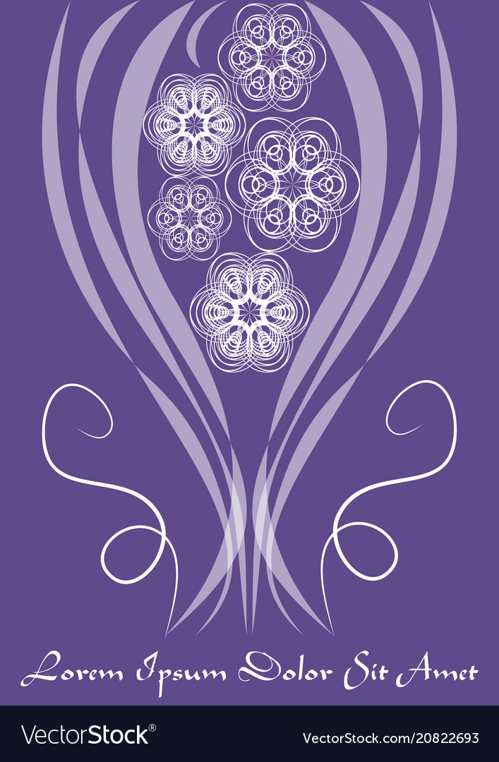 Ultraviolet template with monoline white lace