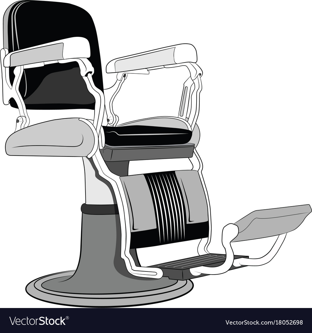 Exceptionnel Barbershop Chair Vector Image