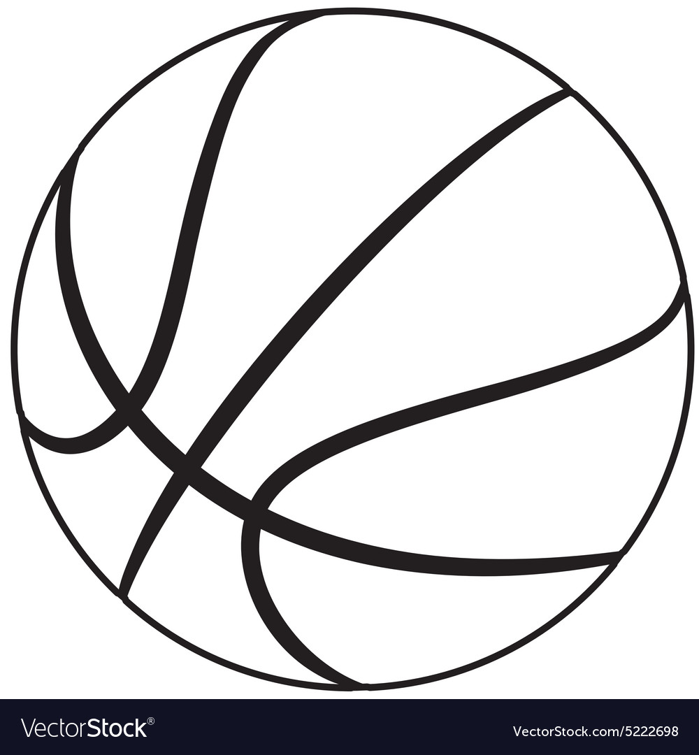 basketball royalty free vector image vectorstock rh vectorstock com basketball vector image basketball vector graphics