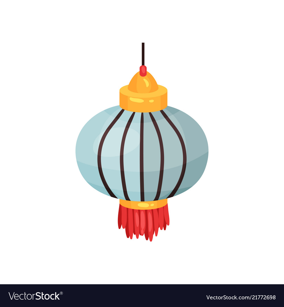 Color chinese lantern of round shape decorative Vector Image