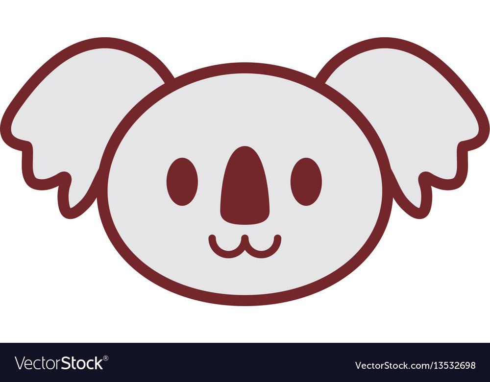 Cute koala face image