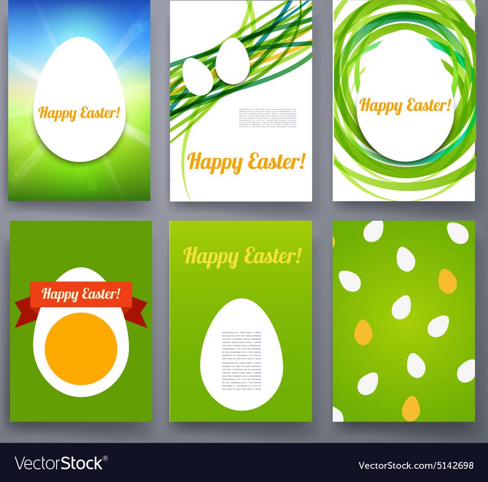 Easter Eggs Templates Flyer Brochure Royalty Free Vector