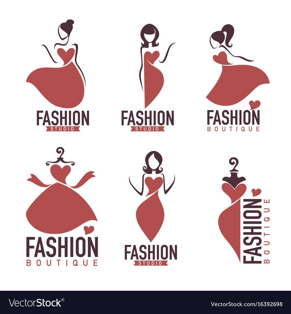 Fashion and beautysalon studio boutique logo and