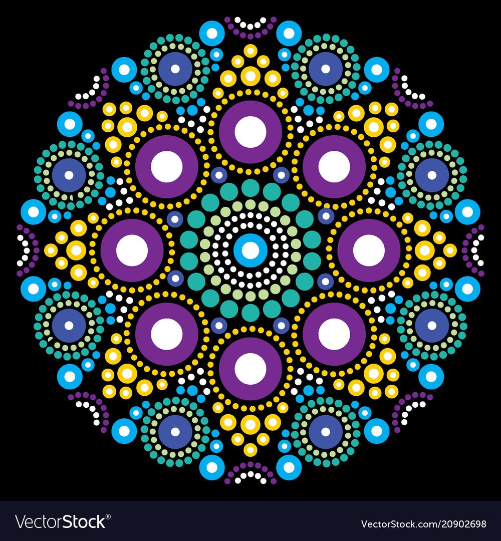 Mandala art australian dot painting design