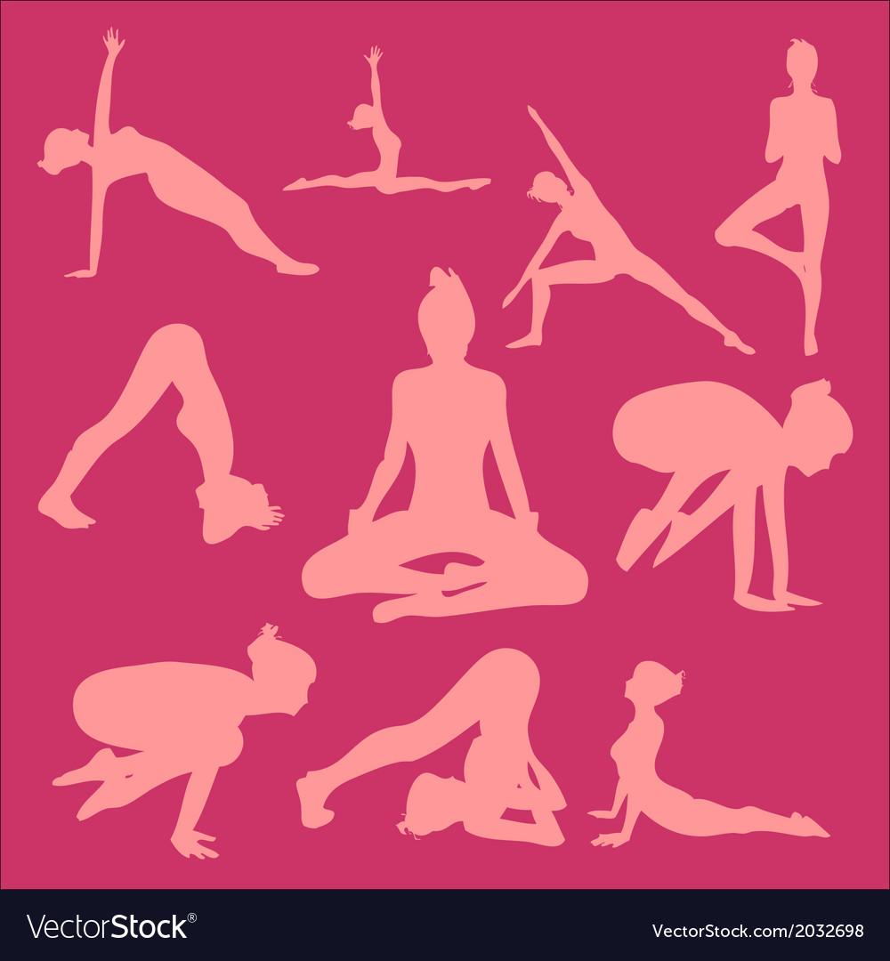 Yoga Pose Woman Digital Clipart 2