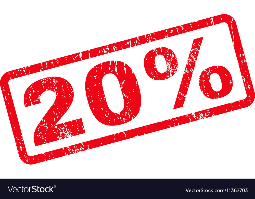 20 Percent Text Rubber Stamp vector image