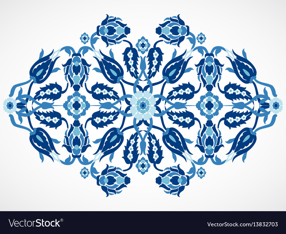 Arabesque vintage damask floral decoration lace pr vector image