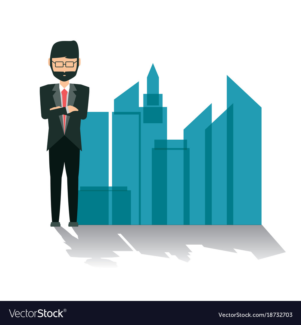 standing businessman silhouette cartoon royalty free - HD1000×1080