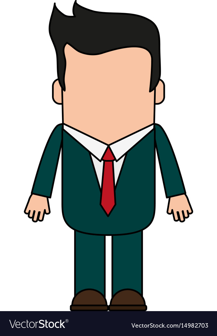 Cartoon man profile