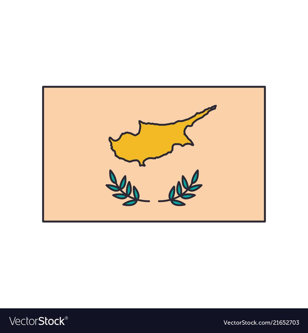 Cyprus flag icon cartoon style
