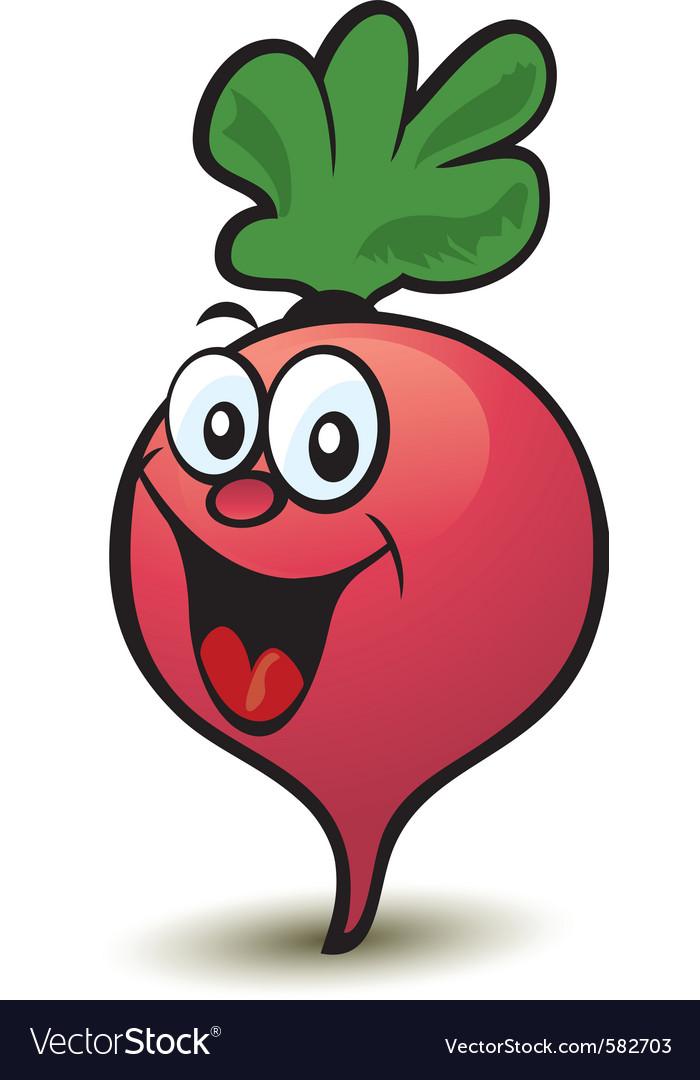 Happy radish character