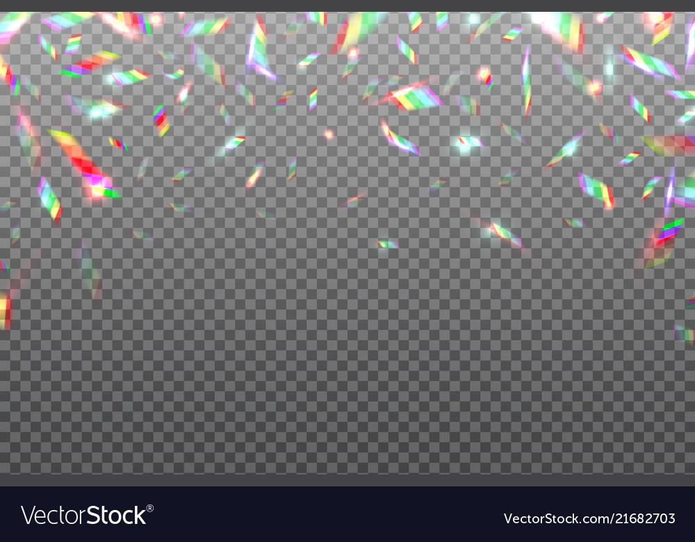 Hologram glitch rainbow background crystal