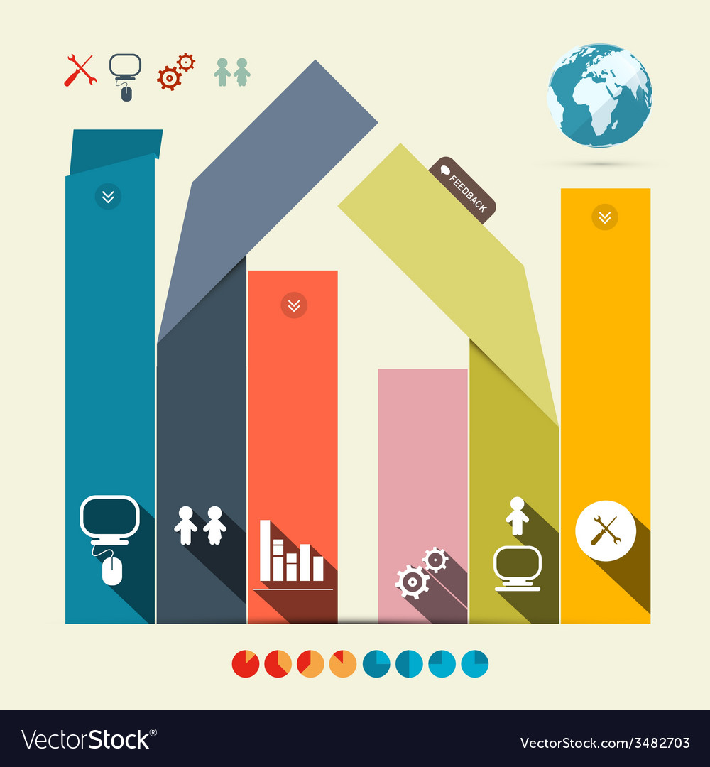 Infographics Template with Flat Design Abstract