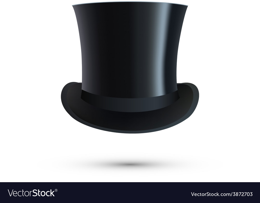 Top Hat isolated on white
