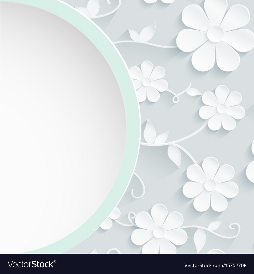 Beautiful wreath of spring flowers white daisies