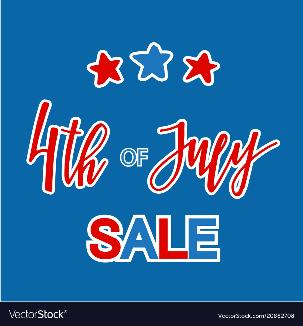 Classic holiday lettering series happy 4th