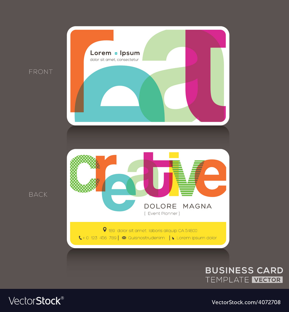 Creative business cards design template royalty free vector creative business cards design template vector image cheaphphosting Choice Image