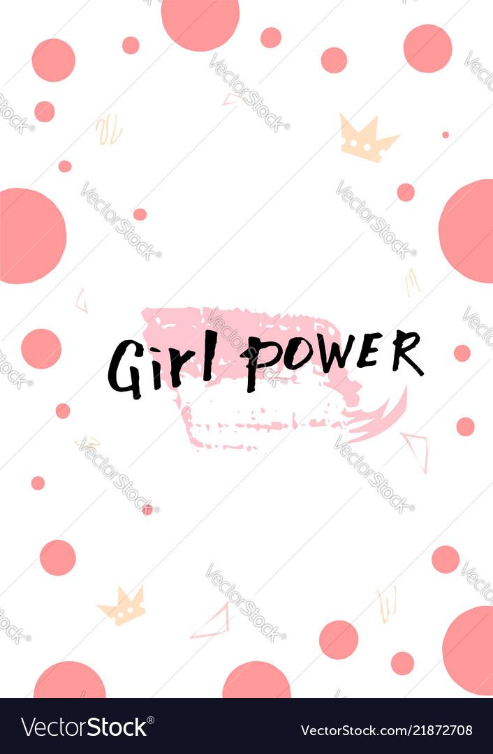 Girl power lettering card
