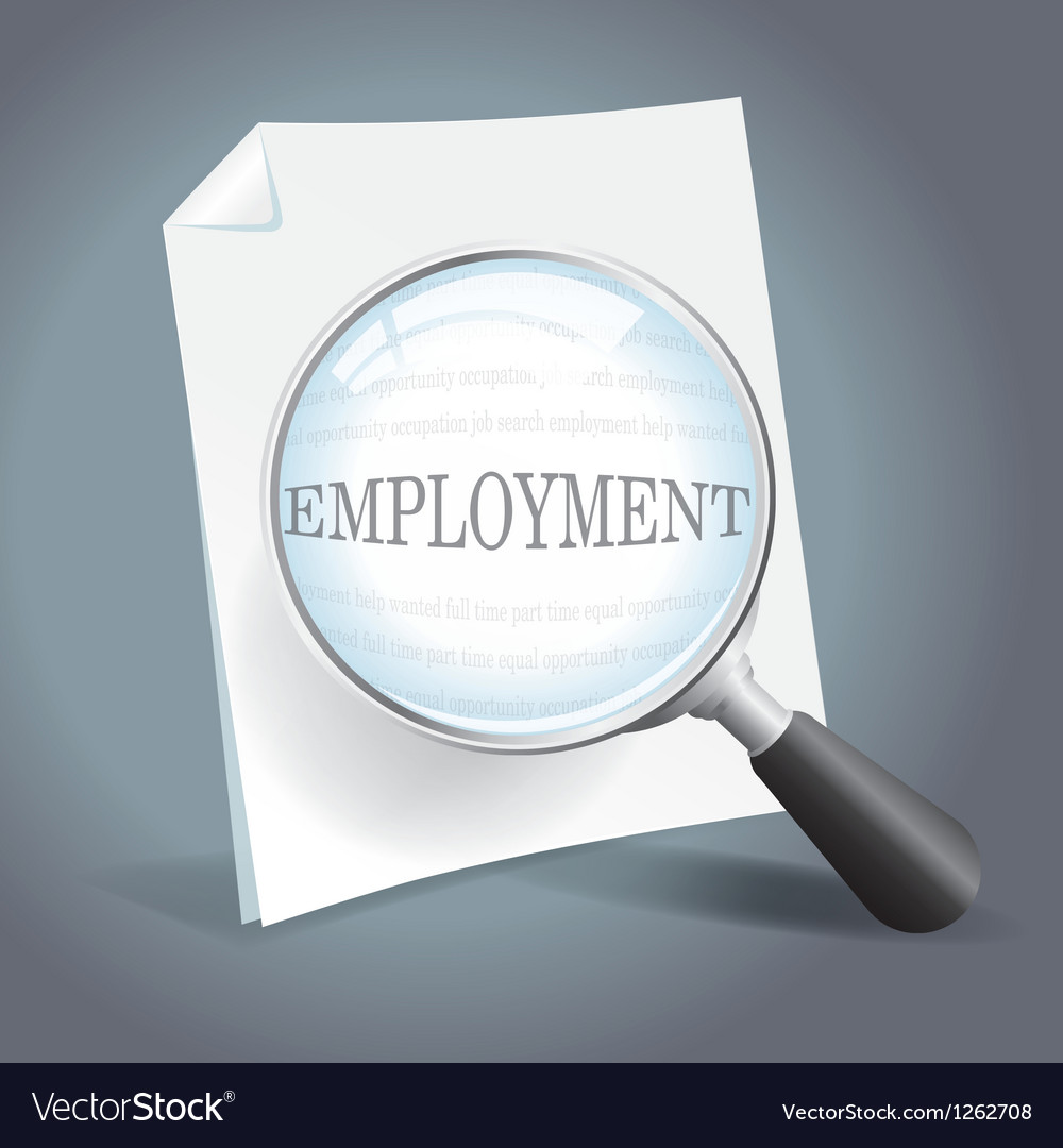 Searching for employment concept
