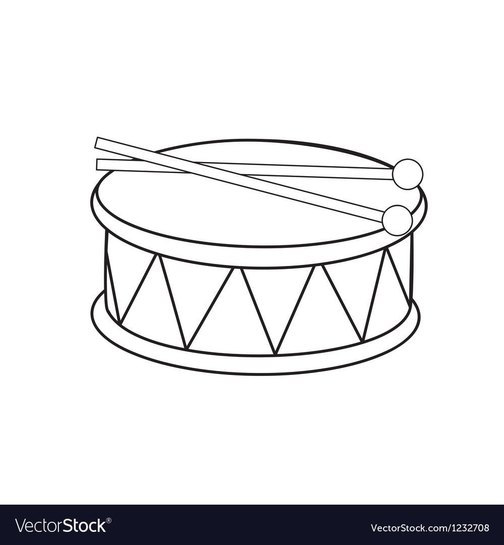 Toy drum vector image