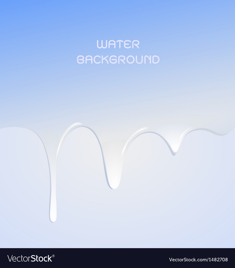 Water drop for background vector image