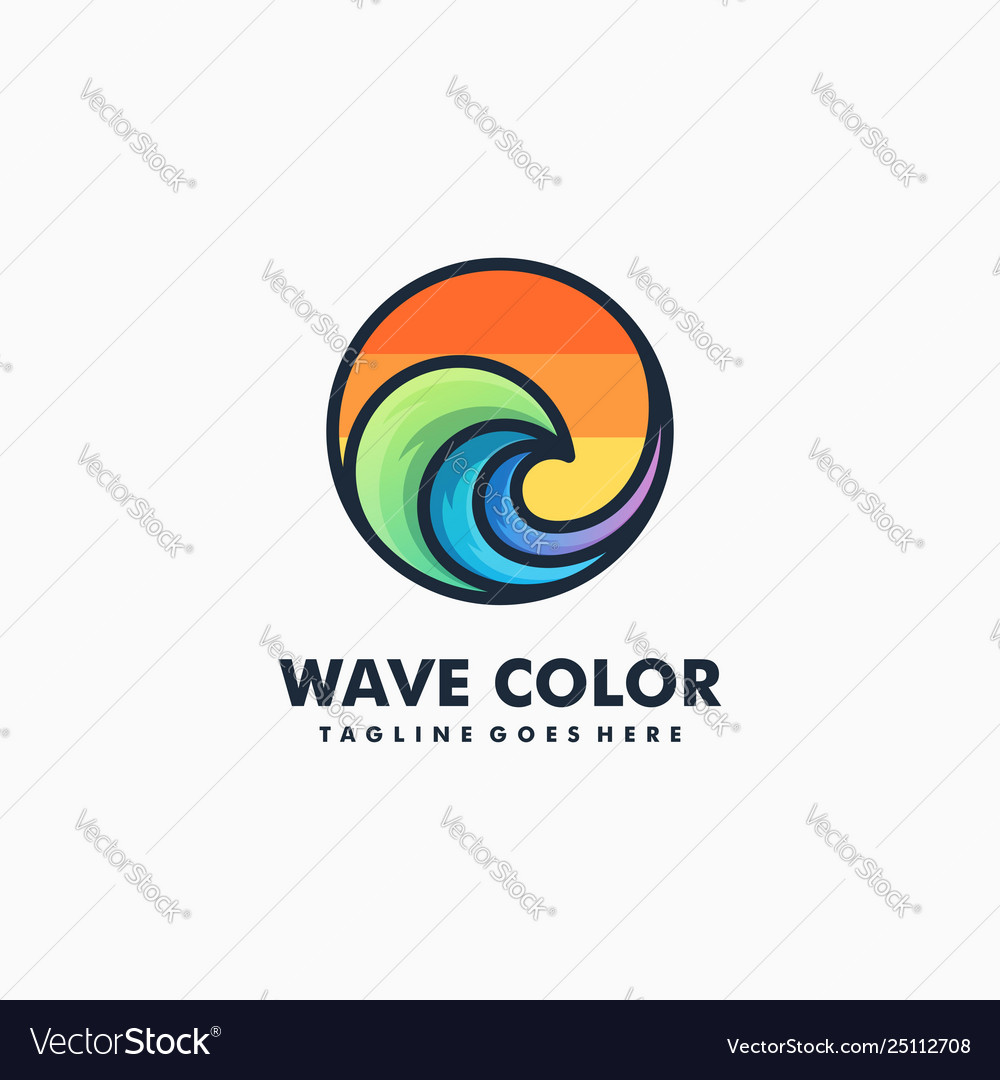 Wave color sport concept design template
