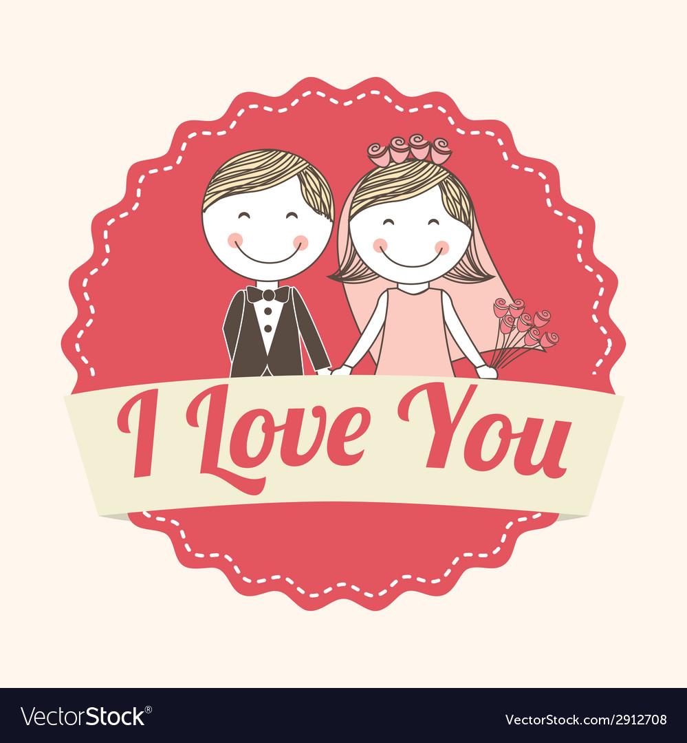 Wedding label vector image