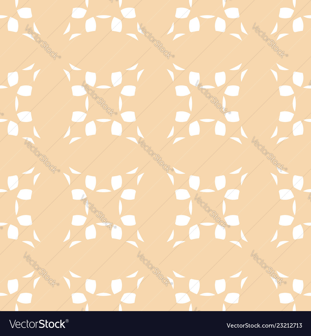 Abstract geometric seamless pattern with flowers