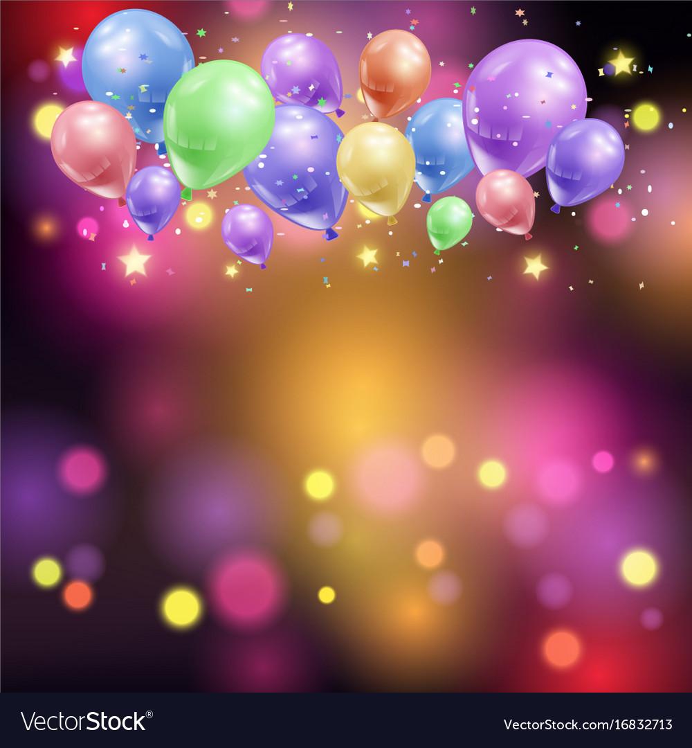 Balloons and bokeh lights