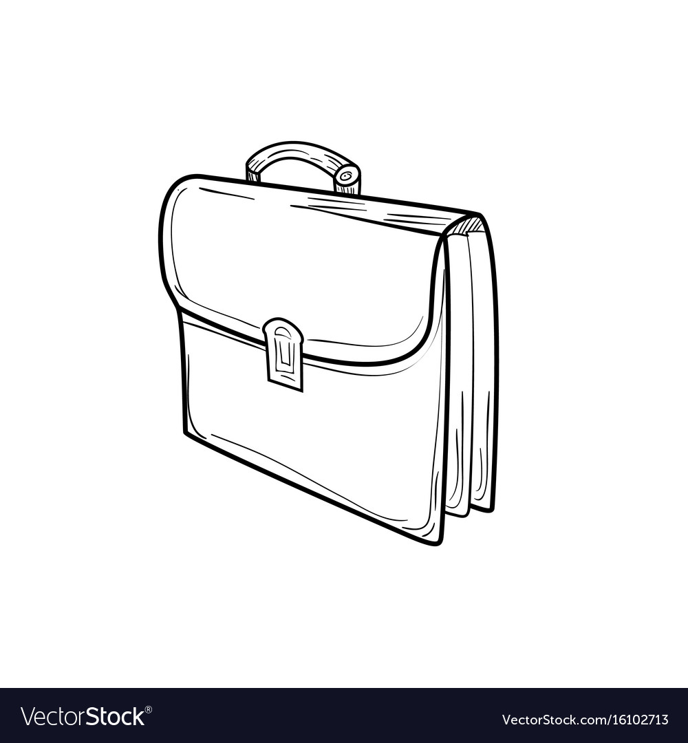 Briefcase sketch icon