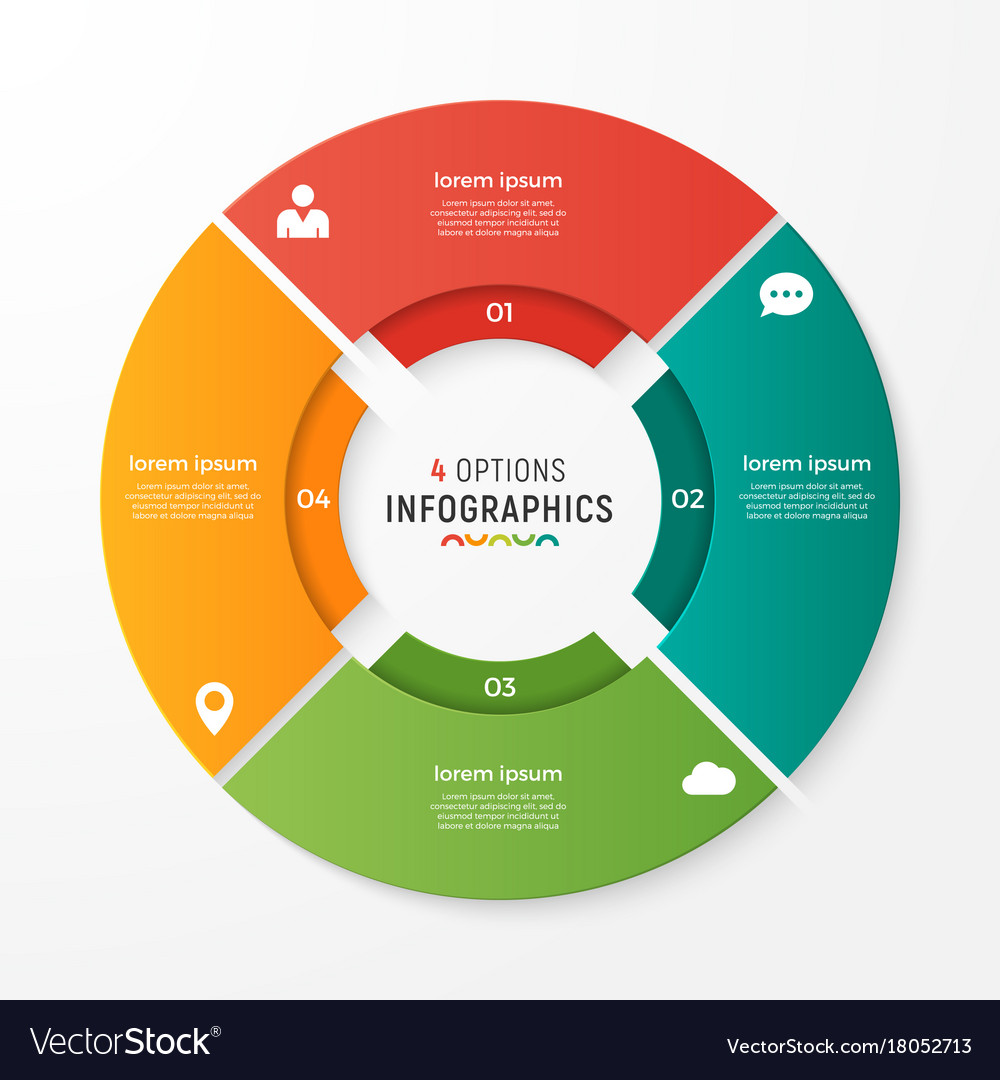 Circle chart infographic template for