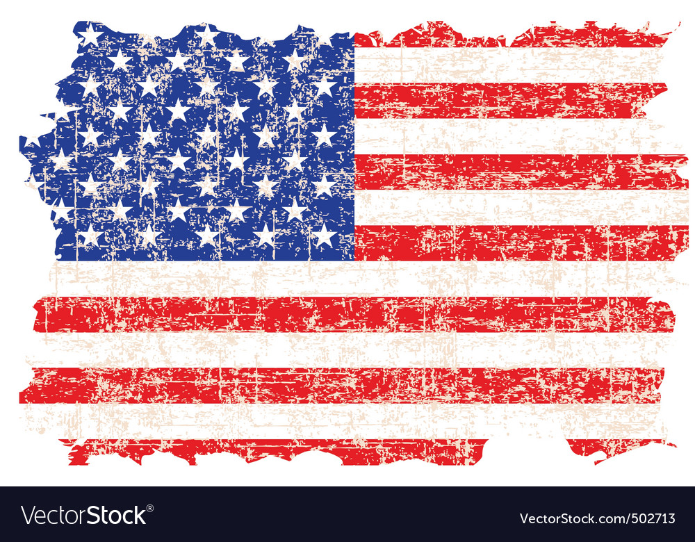 grunge american flag royalty free vector image