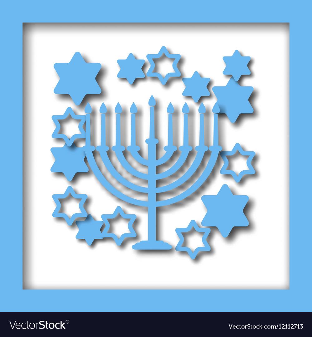 Happy Hanukkah greeting card design